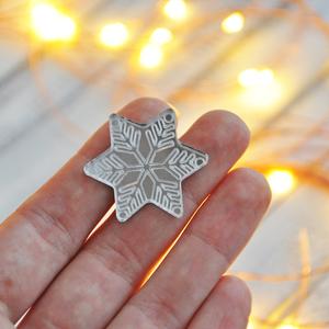 Снежинка звездочка зеркальная