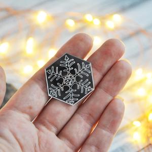 Снежинка шестигранная зеркальная